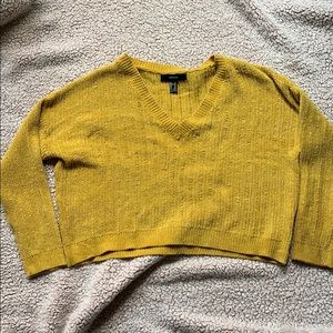 Mustard yellow cropped oversized sweater